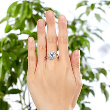 Load image into Gallery viewer, Rebel. Twist Curl 925 Sterling Silver Wedding Engagement Ring 2 Ct Created Diamond XFR8261