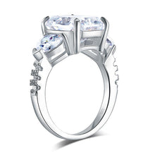 Load image into Gallery viewer, 5 Carat Solid 925 Sterling Silver Ring Three-Stone Pageant Luxury Jewelry XFR8311