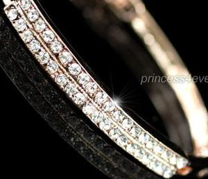 Rose Gold Plated Bangle use Austrian Crystal XSB023