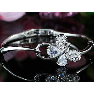 3 Carat Butterfly Fashion Bangle use Austrian Crystal XB092