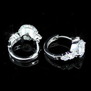 3 Carat CZ Cubic Zirconia Created Diamond Huggie Earrings XE163