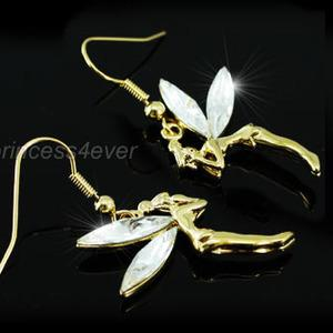 Fairy Gold Earrings use Swarovski Crystal XE197