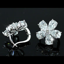 Load image into Gallery viewer, 2.5 Carat Created CZ Cubic Zirconia Bling Flower Earrings XE202