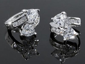 1.5 Carat Cubic Zirconia Bling Huggie Earrings XE257