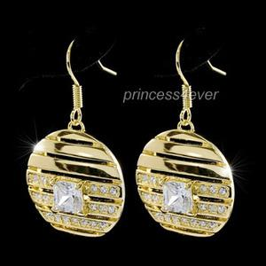 Vintage Style Gold Plated Earrings use Swarovski Crystal XE281