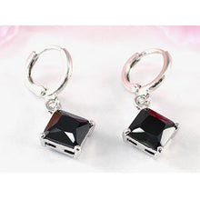 Load image into Gallery viewer, 2 Carat Black Onyx Dangling Earrings XE301