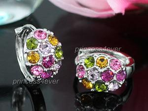 Multi-Color Crystal Small Huggie Earrings XE411