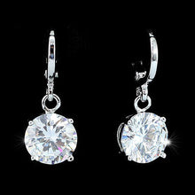 Load image into Gallery viewer, 3 Carat Dangle Sparkling Bling  CZ Created Diamond Earrings XE546