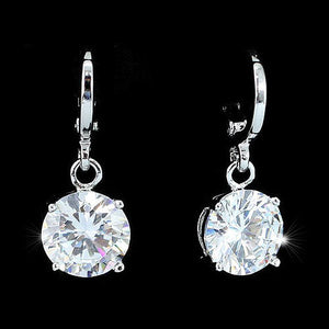 3 Carat Dangle Sparkling Bling  CZ Created Diamond Earrings XE546