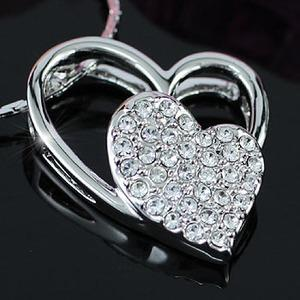 Heart Pendant Necklace use Swarovski Crystal XN081