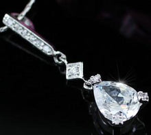 Load image into Gallery viewer, 2 Carat Pear Cut Created Diamond Pendant Necklace XN254