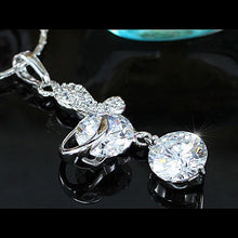 Load image into Gallery viewer, 3 Carat Butterfly CZ Created Diamond Pendant Necklace XN290