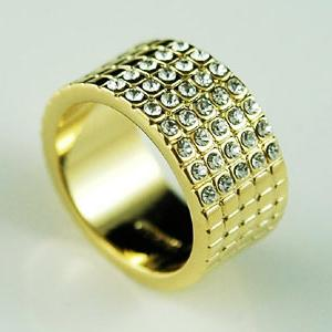 Gold Plated Ring use Swarovski Crystal XR065