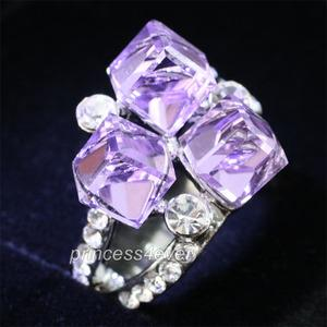 Purple Stylish Ring use Swarovski Crystal XR171