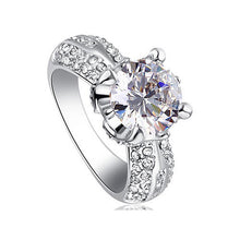 Load image into Gallery viewer, 2 Carat Sparkling Round Cut Cubic Zirconia CZ Created Diamond Ring XR201