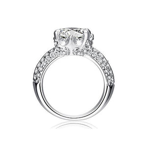 2 Carat Sparkling Round Cut Cubic Zirconia CZ Created Diamond Ring XR201
