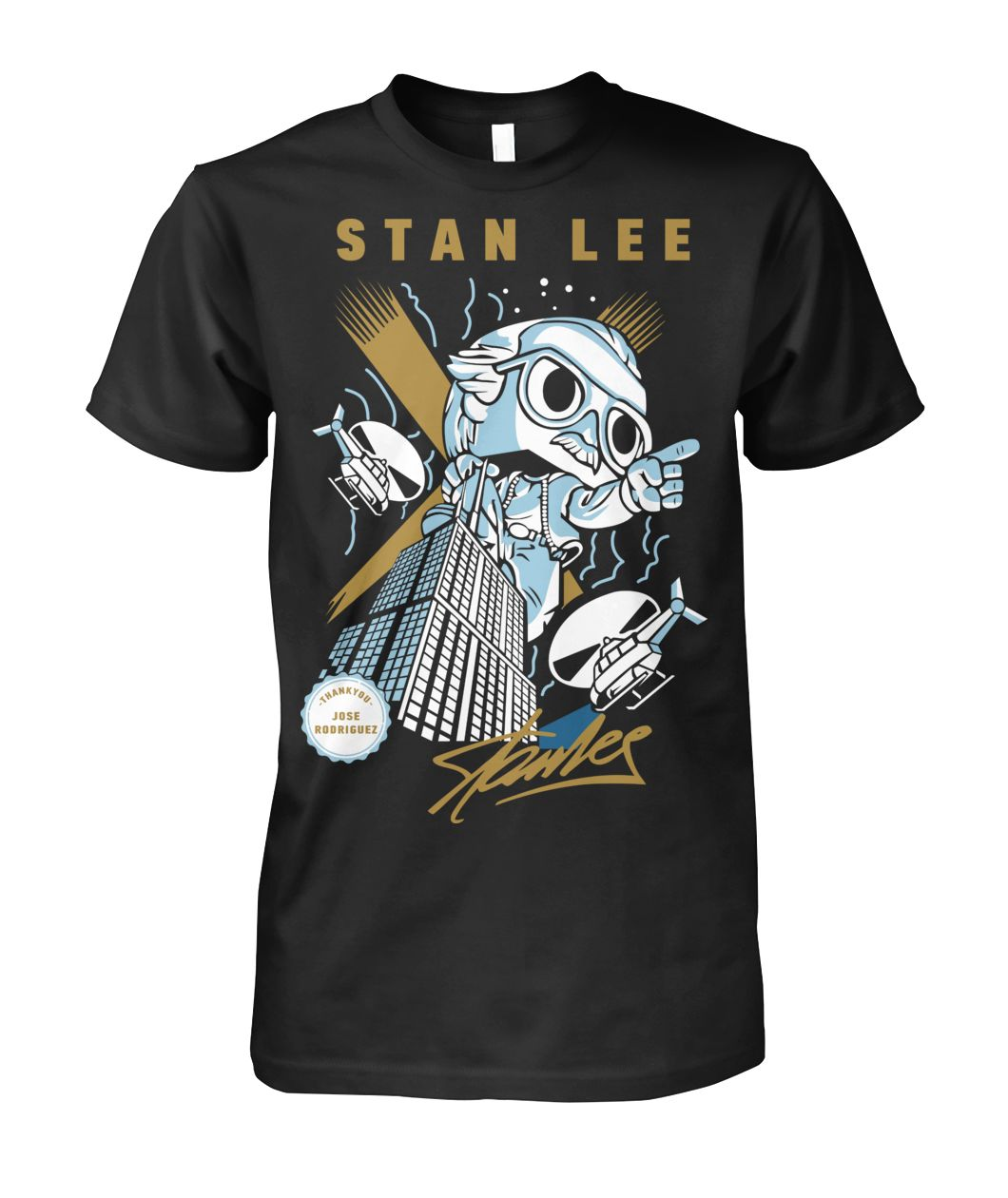 Stan Lee T-shirt for Jose Rodriguez Unisex Cotton Tee