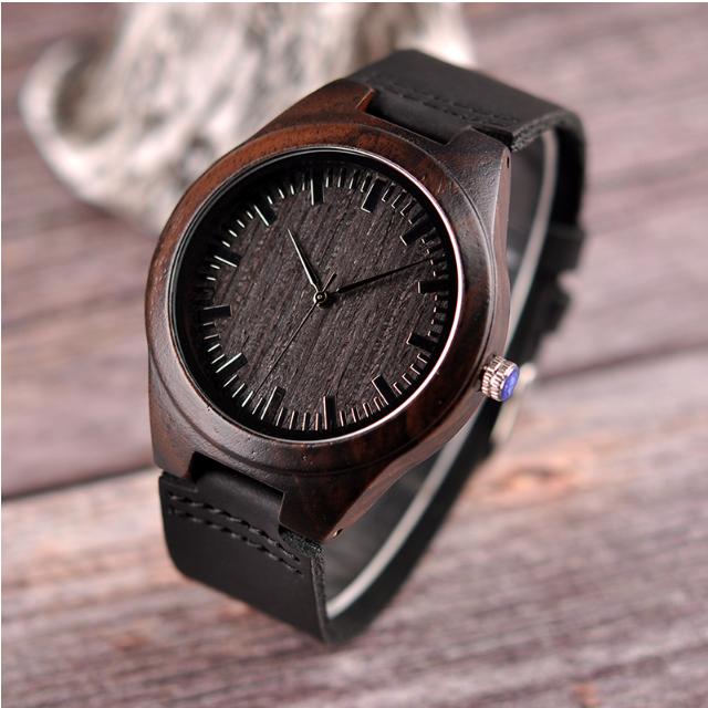 Leather Wood WristWatches