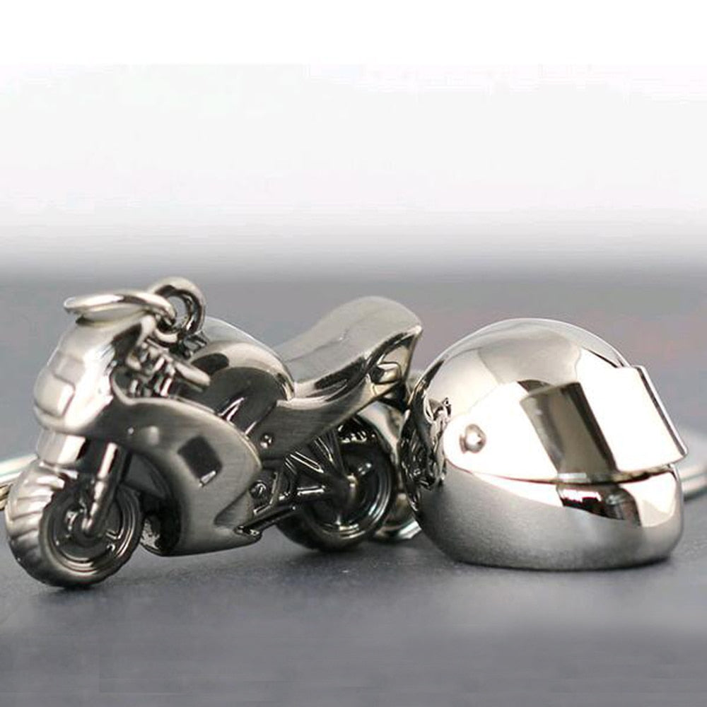 Motorcycle Helmet Key Ring