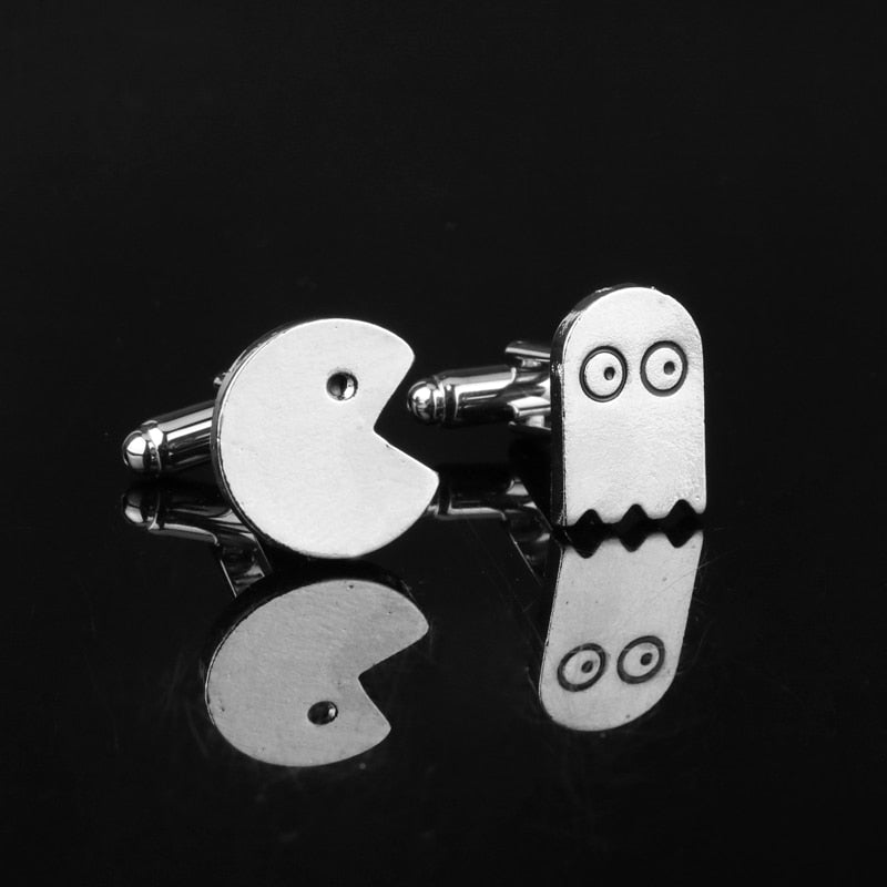 Packman&Ghost Cuff Buttons