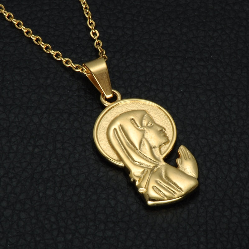 Catholic  Mother Maria Necklace