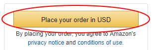 Final checkout Amazon USD