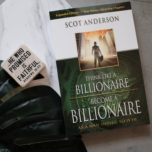 Think Like A Billionaire Become A Billionaire with Plaque (Heb 10:23)