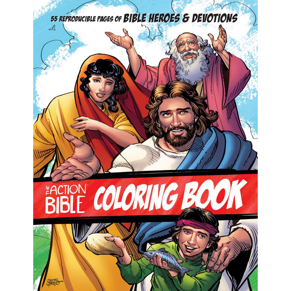 Action Bible Coloring Book
