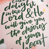 Take Delight In The Lord - Pouch
