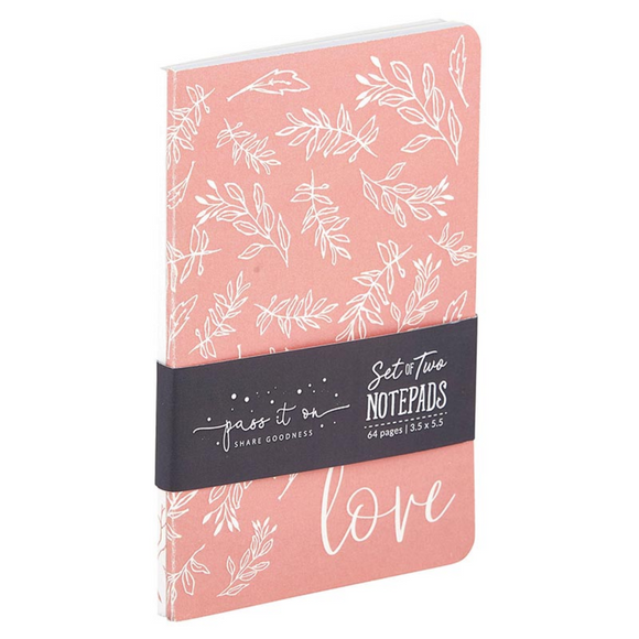 Set of 2 Notepads - Love (#G6439)