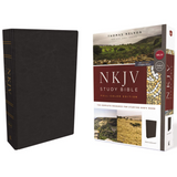 NKJV - Study Bible, Full-Color, Comfort Print/Black Leathersoft