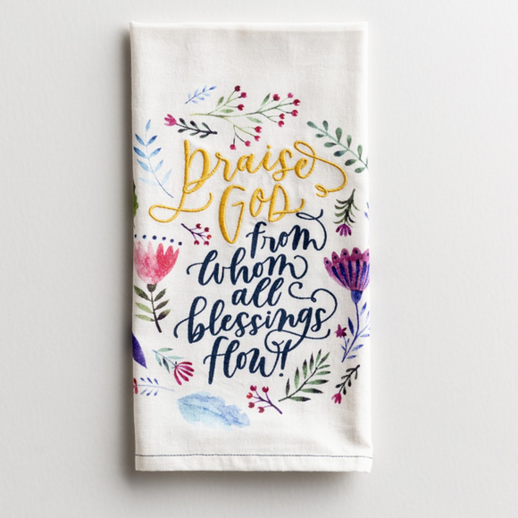 Tea Towel-Cotton-Praise God-#91487