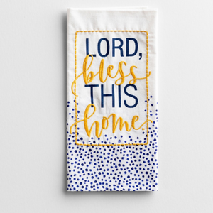 Tea Towel-Cotton-Lord Bless This Home-#91488