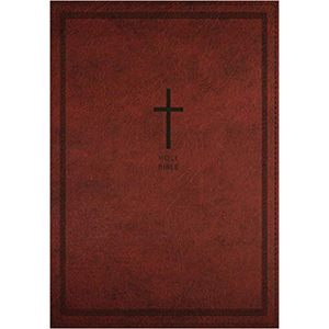 NKJV-Deluxe Thinline Ref, Large Print, Leathersoft Red
