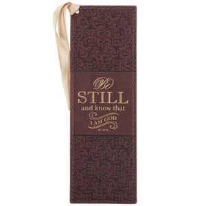 Be Still and Know - Leather Bookmark - BMF114