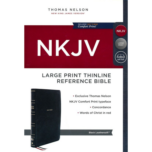 NKJV-Large Print Thinline-Reference-Premier Collection