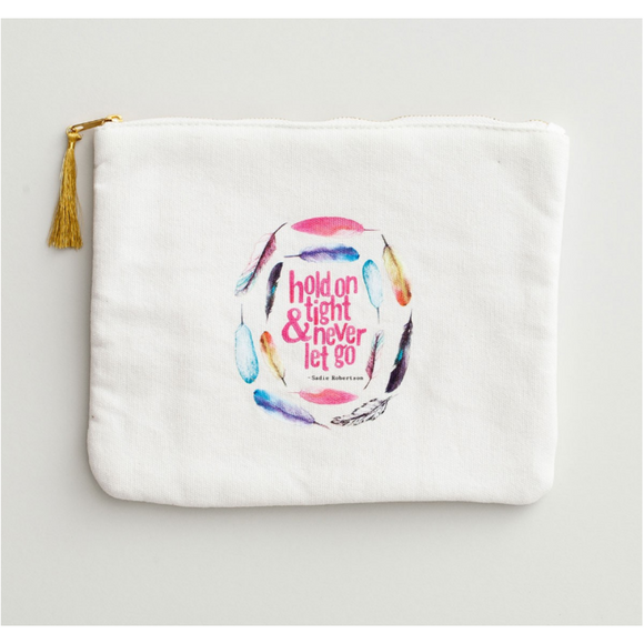 Hold On Tight - Canvas Pouch