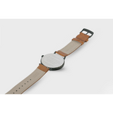 Proverbs 3:5 Watch - Rose Gold Dark Blue Face/Brown Leather Strap