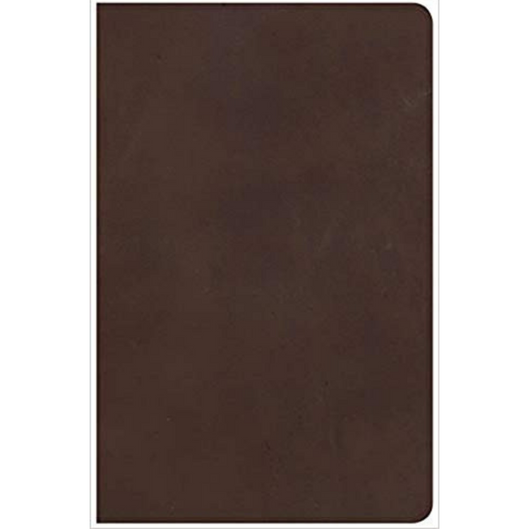 NKJV-Large Print Personal Size Ref-Brown Genuine Leather