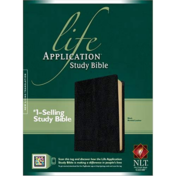 NLT-Life Application Study Bible-Bonded Leather, Black
