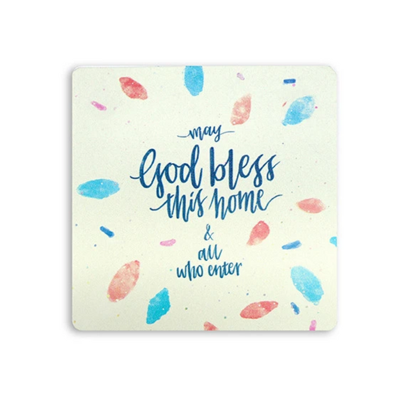 Wooden Coaster - May God Bless This Home