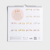 2021 Premium Spiral Wall Calendar - Beauty Joy Love Kindness (#J1984)