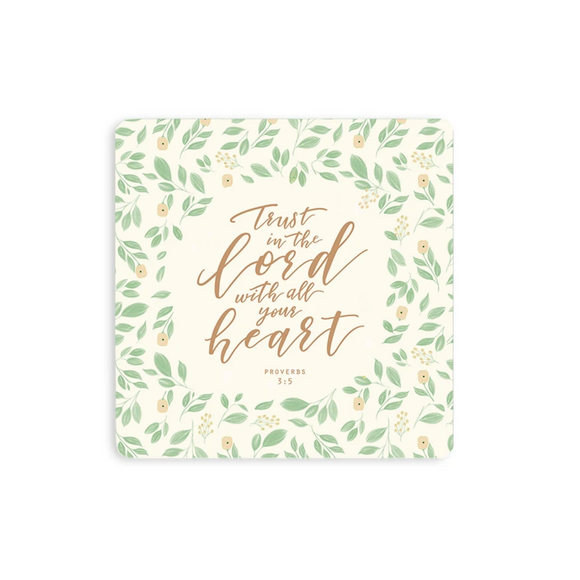 Wooden Coaster - Trust In The Lord