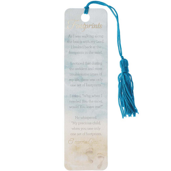 Footprints - Bookmark with Tassel (TBM118)