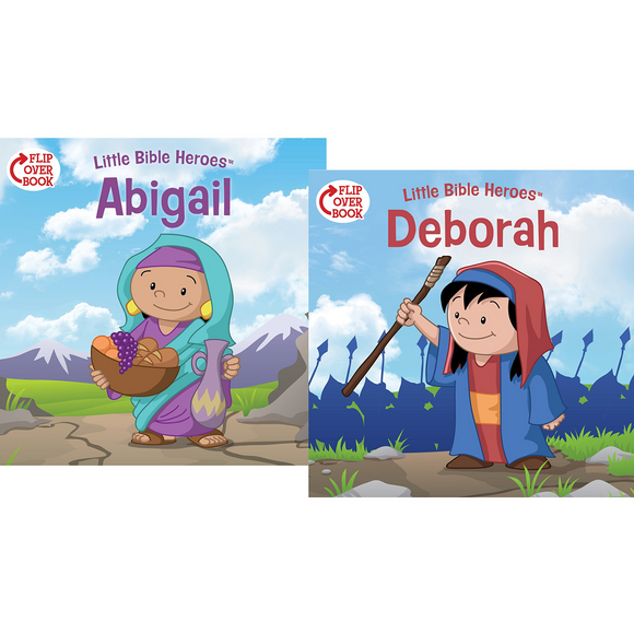 LITTLE BIBLE HEROES: FLIP-OVER BOOK
