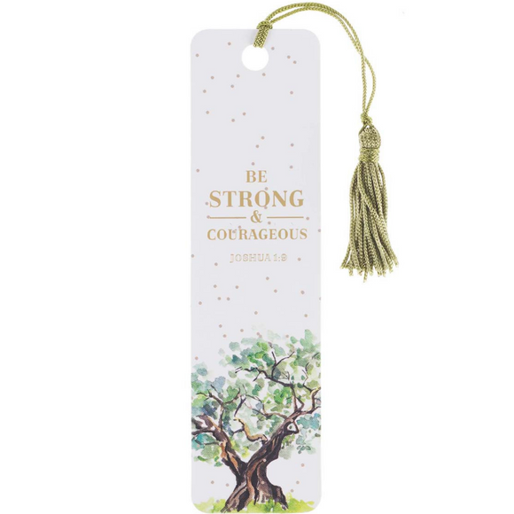 Strong & Courageous - Bookmark with Tassel (TBM120)