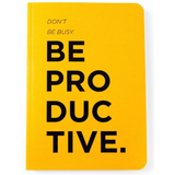 Journal - Be Productive / Productivity Journal (Yellow)