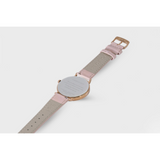 Proverbs 3:5 Watch - Rose Gold Dark Blue Face/Pink Leather Strap