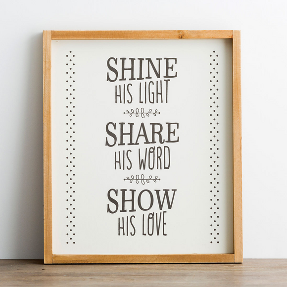 Wood Framed Wall Art -Shine His Light #91359