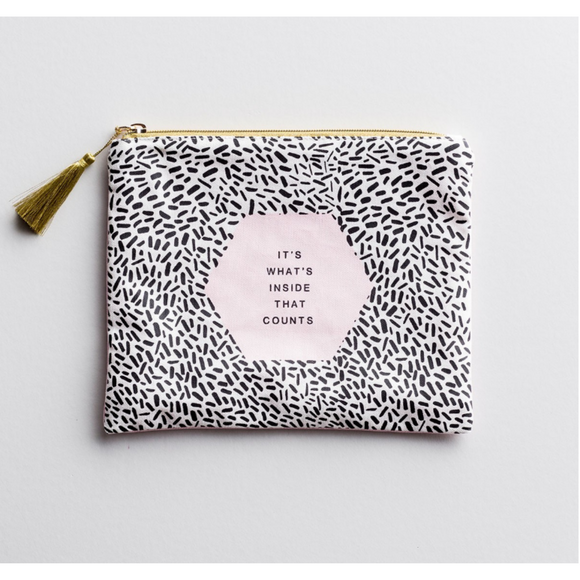 Its Whats Inside That Counts - Canvas Pouch